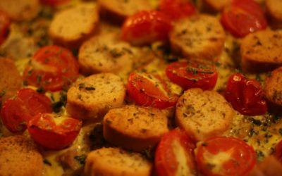 Frittata al forno con crostini