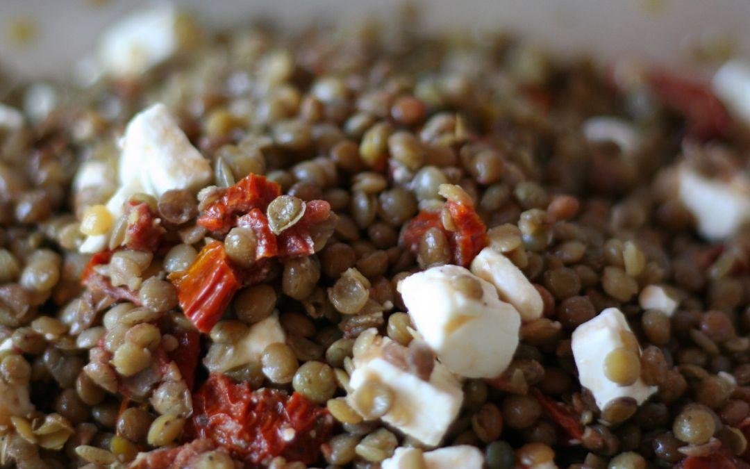 Insalata di lenticchie e pomodori secchi