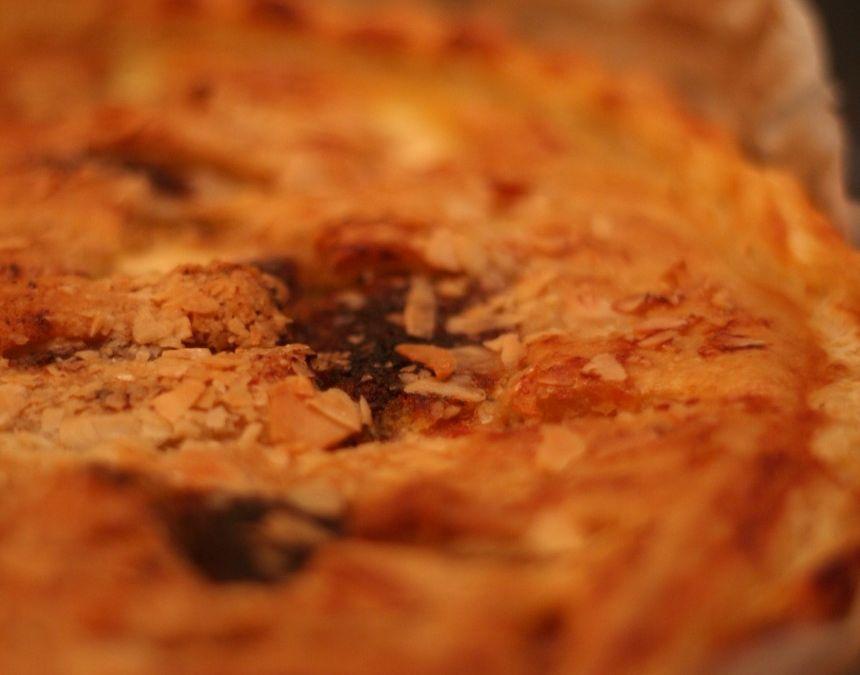 Torta salata formaggi e prosciutto
