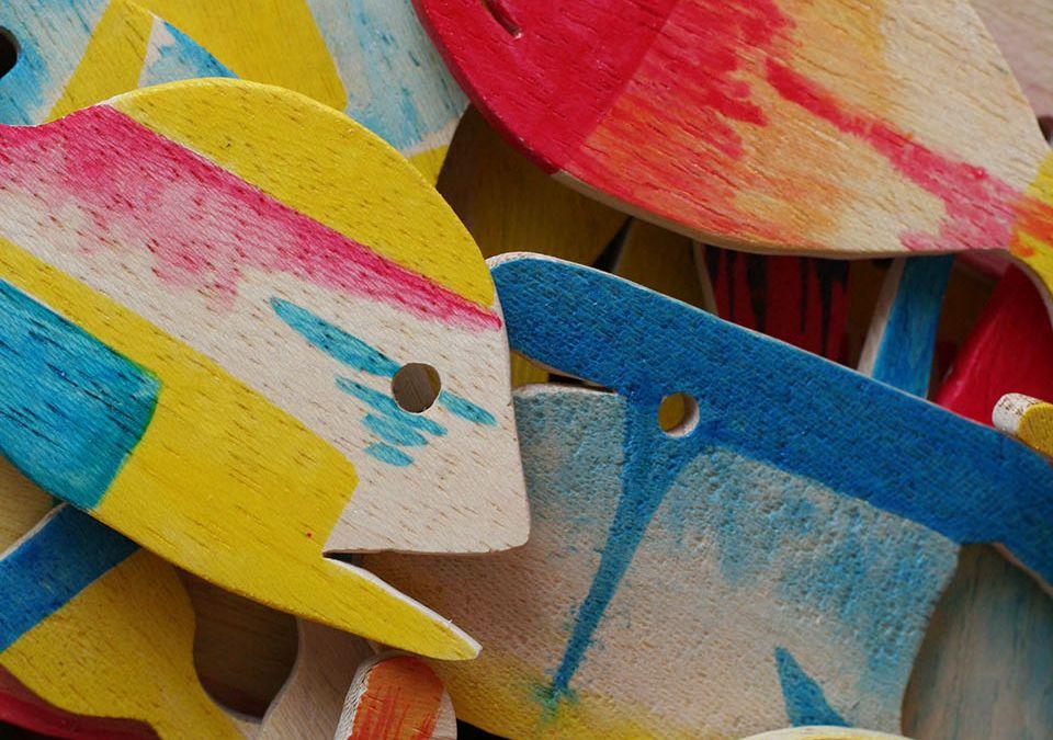 Pesci in legno – Wooden fish